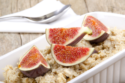 ricotta oatmeal with figs and honey ricotta oatmeal with figs